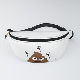A stinky poop attracting house flies Fanny Pack