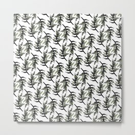 Greenery : Leaf Pattern - Katrina Niswander Metal Print