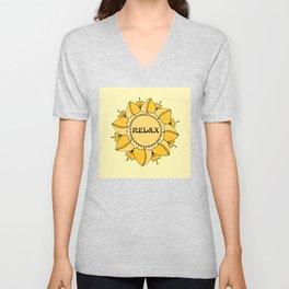 Relax Nouveau Golden Sun Mandala Unisex V-Neck