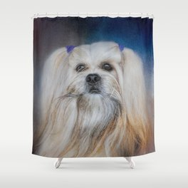 Handsome Lhasa Apso Shower Curtain