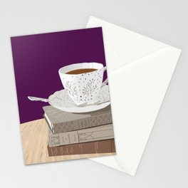 Teacup, Jane Austen, & Charlotte Brontë Books Stationery Cards