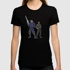 Shepard and Garrus Womens Fitted Tee Black MEDIUM