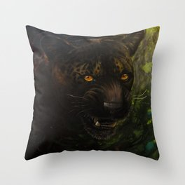 Shadow Cat Throw Pillow
