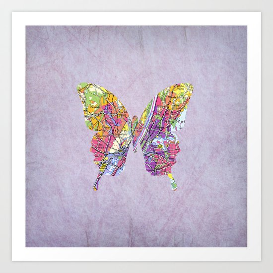 Butterfly - New York Art Print