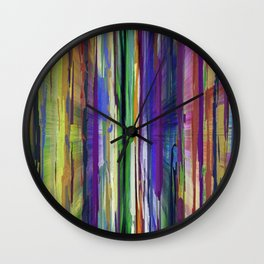 Abstract Multi-coloured Stripes 1410 Wall Clock