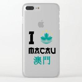 I love Macau Clear iPhone Case