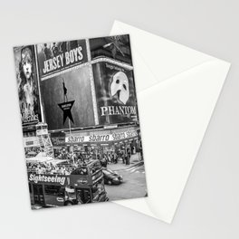 Times Square II (B&W widescreen) Stationery Cards