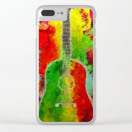 Music Colors Clear iPhone Case