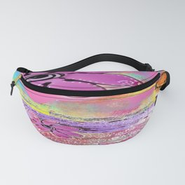MIXED MEDIA FLORAL Fanny Pack