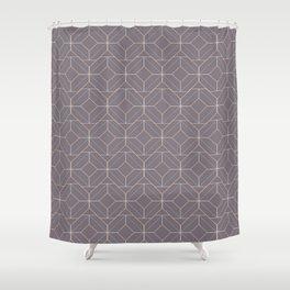 Minimalist Geometric Diamond Shapes in Aubergine Shower Curtain