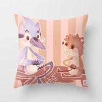 regular show Throw Pillows featuring Regular Show by SweetOwls