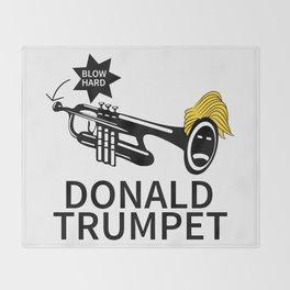 Donald Trump Trumpet Throw Blanket