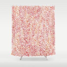 tangerine drops Shower Curtain