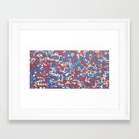 flag Framed Art Prints featuring Flag by Chaospattern