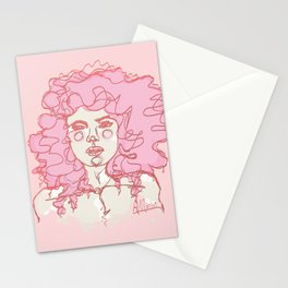 Pinky Pink Curls Stationery Cards