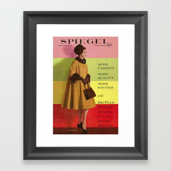 1961 Fall/Winter Catalog Cover Framed Art Print