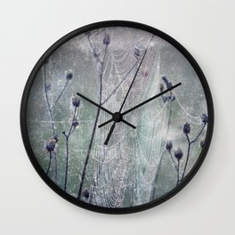 spider web Wall Clock