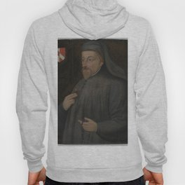 Vintage Geoffrey Chaucer Portrait Painting Hoody