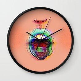 LSD Kiss Wall Clock