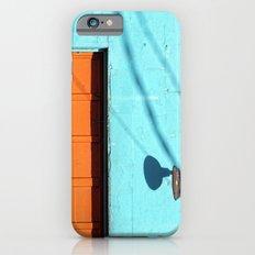 Electric Aqua building orange door iPhone 6s Slim Case