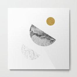Moon, gold sun, moon series 3 Metal Print