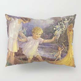 """""""Boat To Fairyland"""" by Margaret Tarrant Pillow Sham"""