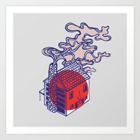 cabin Art Prints featuring Cabin by Devin Soisson