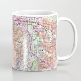 Vintage Map of Fort Worth Texas (1955) 2 Coffee Mug