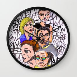 THE LSD WORLD OF ITS ALWAYS SUNNY IN PHILADELPHIA Wall Clock