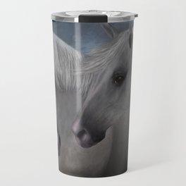 White Stallions Travel Mug