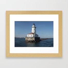 Chicago Harbor Light Framed Art Print