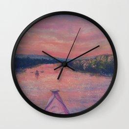Racing the Sunset Wall Clock