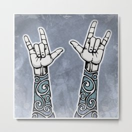 Double Rock Sleeve Metal Print