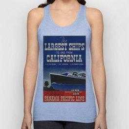 Vintage poster - California Unisex Tank Top