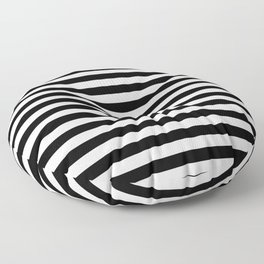 Simple Black & White Stripes Floor Pillow
