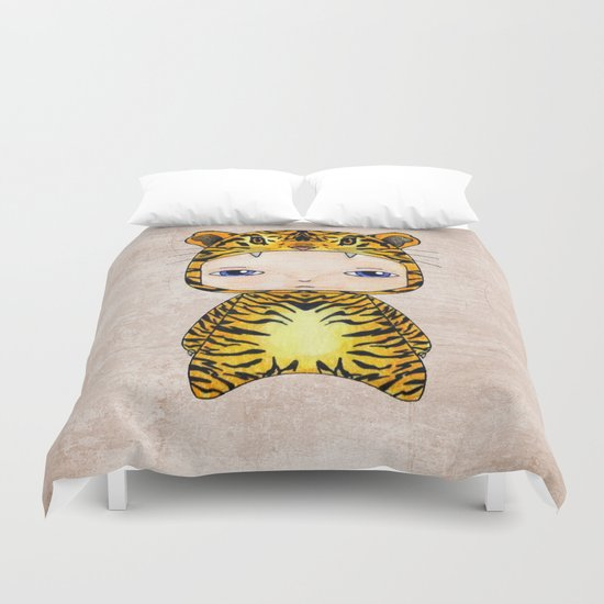 A Boy - Tiger Duvet Cover