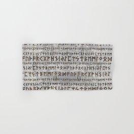 Elder Futhark Pattern on birch texture Hand & Bath Towel