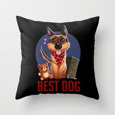 Best Dog Throw Pillow