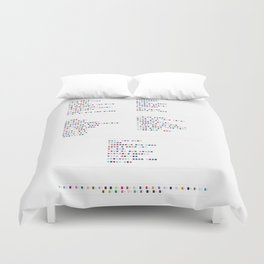 Massive Attack Discography - Music in colour Code Duvet Cover