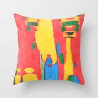 megaman Throw Pillows featuring Megaman by Rocovich