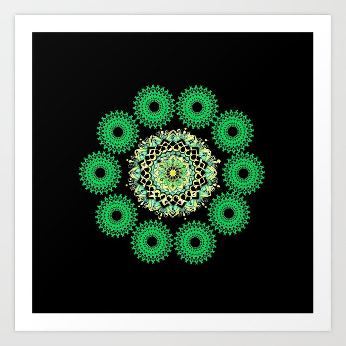 Anahata Flower in the Night Art Print