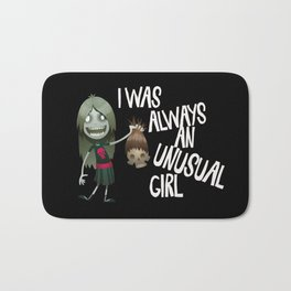 Unusual Series - A Girl and Her Muse Bath Mat
