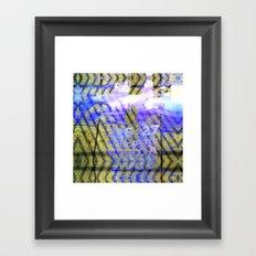 Ionic tightrope pack badges. Framed Art Print
