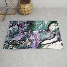 Textured Minerals Teal Green Purple Rug