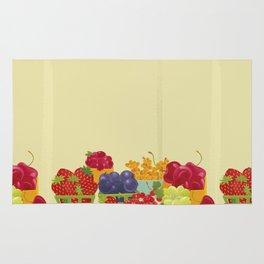 Organic Farm Market. Berries. Rug