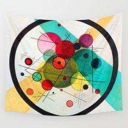 Kandinsky Circles in a Circle Wall Tapestry