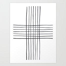 Criss Cross Art Print