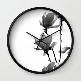 BLACK MAGNOLIA Wall Clock