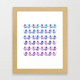 Dragons and Butterflies Framed Art Print