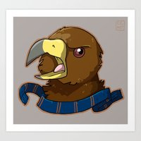 ravenclaw Art Prints featuring Ravenclaw by Clair C